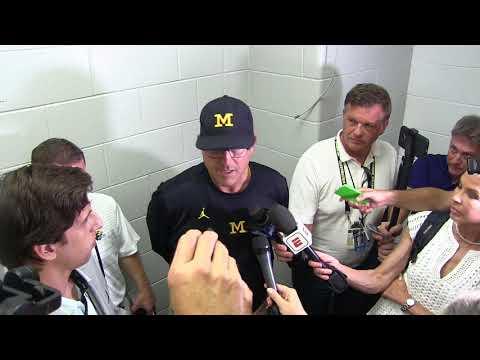 Jim Harbaugh talks Wilton Speight injury, John O