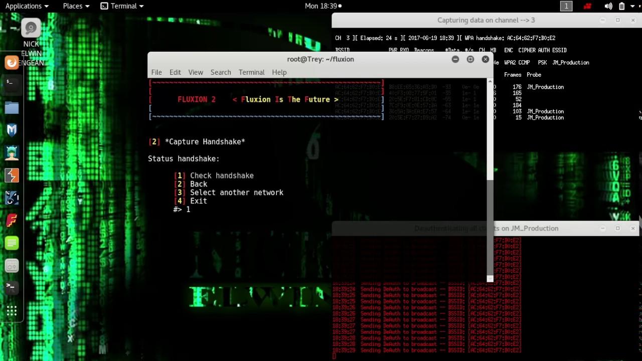 cara hack WIFI WPA2 via FLUXION @KALI LINUX - YouTube