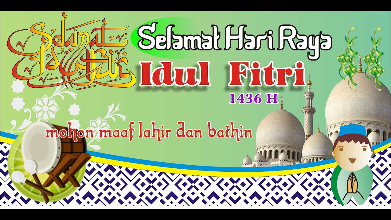 Coreldraw Design Membuat Spanduk Idul Fitri Banners Eid Al