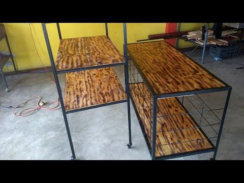 DIY ESTANTES MADERA Y METAL INDUSTRIAL/ DIY WOOD AND METAL SHELVES
