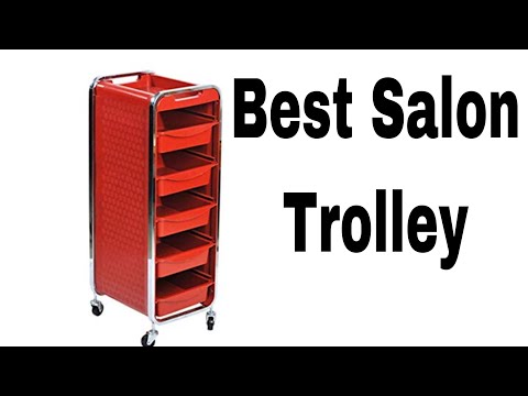 New 6 Layer Chrome Frame Hairdresser Beauty Salon Trolley (