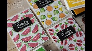 Simon Says Stamp | Artsy Fruits Backgrounds Cards