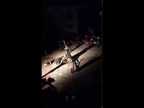 khai mạc lửa trại thiếu nhi thánh thể. GX Kiên Lương 2015