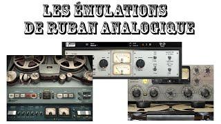 plugin review les e mulations de ruban analogique vtm vs kramer tape vs j37 lamachineamixer com