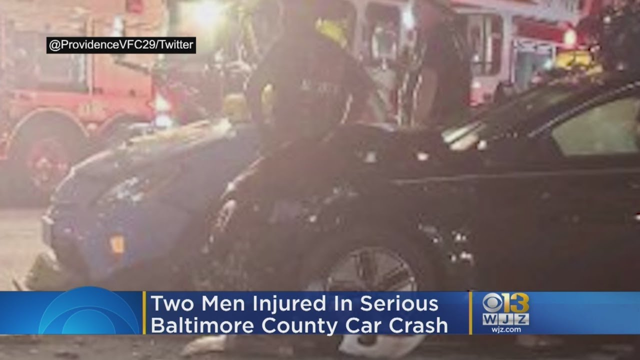 Two Men Injured In Serious Baltimore County Car Crash