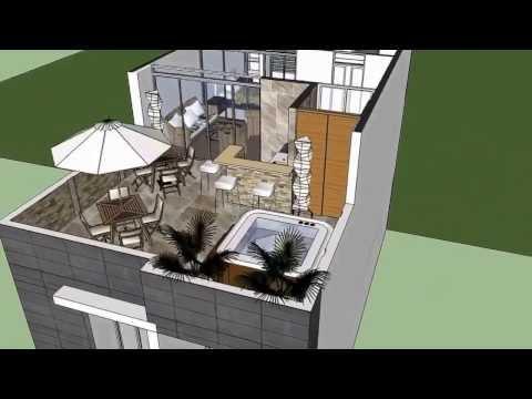 Planos de casas con fachadas doovi for Casa moderna minimalista interior 6m x 12 50m