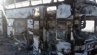 В Казахстане сгорел пассажирский автобус. Погибли 52 человека / Новости