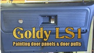 Chevy K20 - Interior door panel painting with truck bed paint