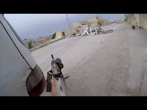 Syria GoPro Combat Footage original from soldier's cam fighting with ISIS.