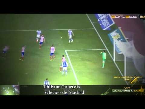 Slomo SuperSave ! Thibaut Courtois Atletico Madrid 2014 primera division