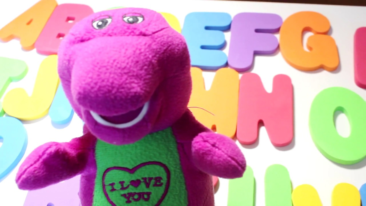 Learn Abc For Children With Barney Learning For Children Alphabets