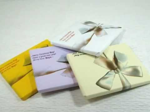 how do you tie a ribbon bow around a gift box youtube. Black Bedroom Furniture Sets. Home Design Ideas