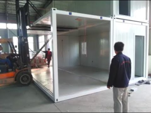 Link 2 units 20ft flat pack container houses