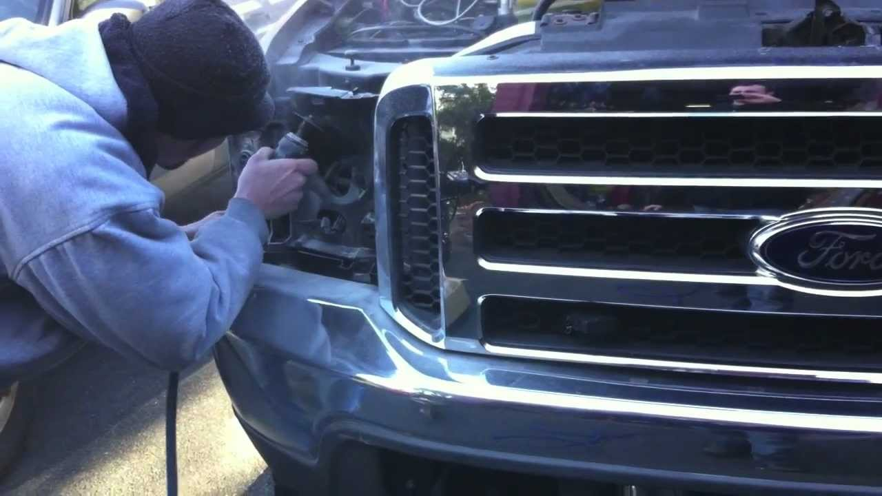 Ford F 250 Headlight Conversion