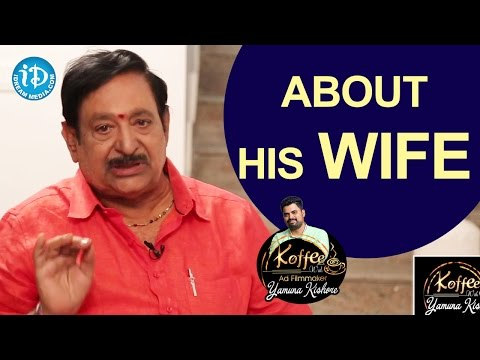 Chandra Mohan About His Wife || Koffee With Yamuna Kishore