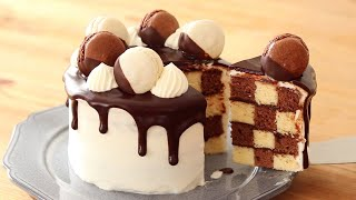 Chocolate chess board cake