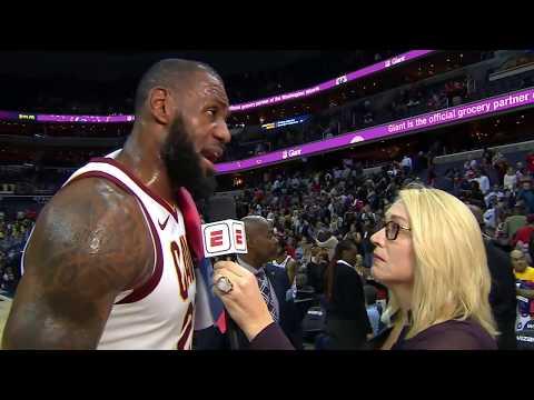 f26e944fb2b4 Смотреть видео LeBron James stays humble after dropping 57 points