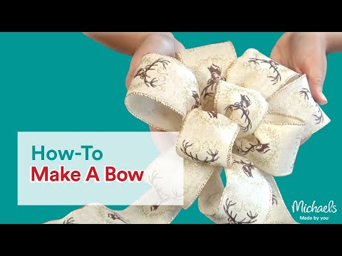 How to make a pom bow