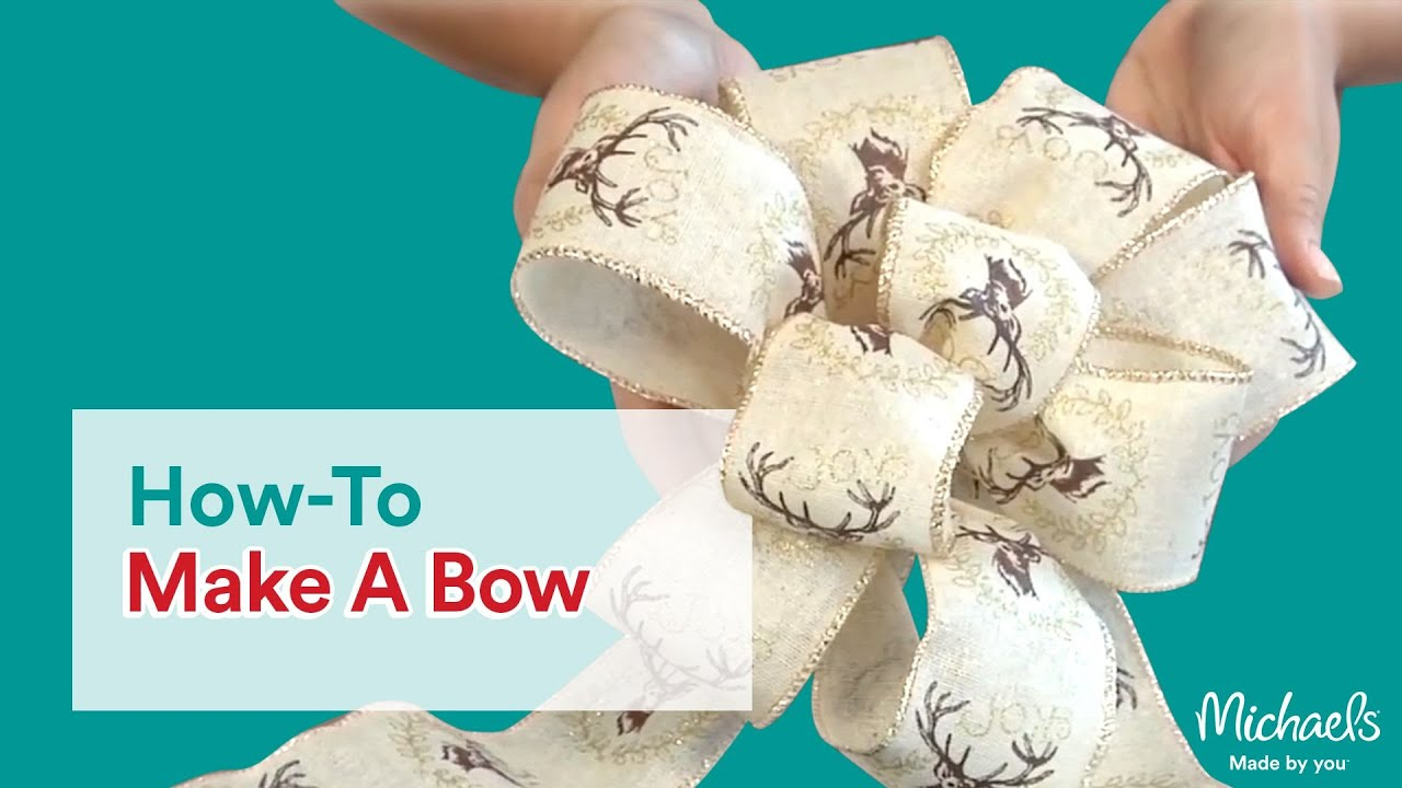 how to make a bow diy holiday michaels youtube - Michaels Outdoor Christmas Decorations