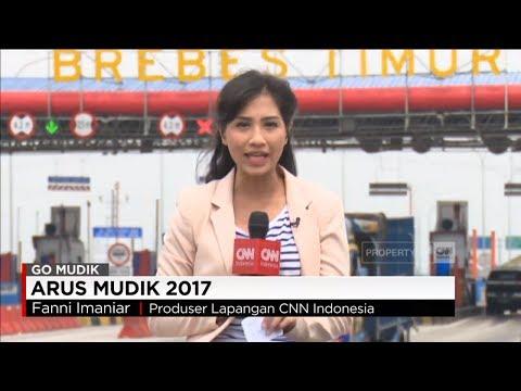 Arus Kendaraan di Gerbang Tol Keluar Brebes Relatif Normal - Mudik 2017 Pantura
