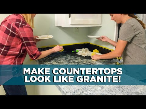 painting kitchen countertops to look like granite youtube. Black Bedroom Furniture Sets. Home Design Ideas
