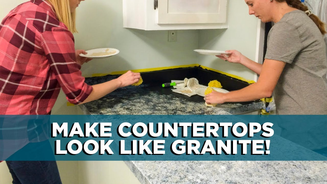 Painting Kitchen Countertops To Look Like Granite Today S Homeowner With Danny Lipford Youtube