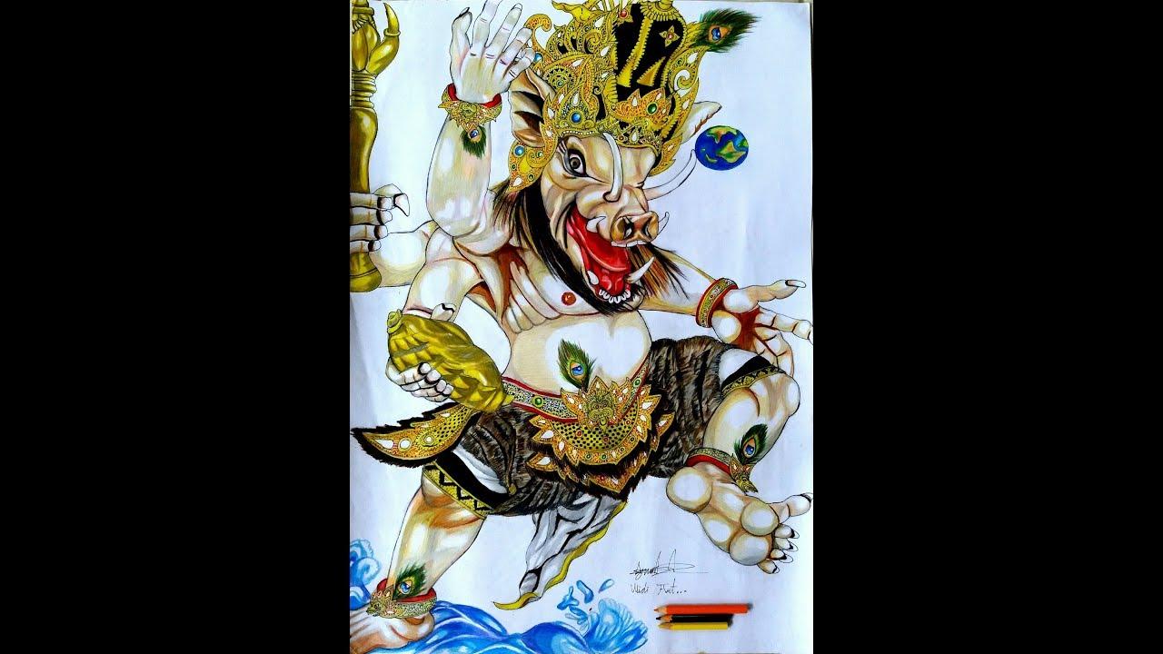 Coloring And Drawing Mewarnai Ogoh Ogoh