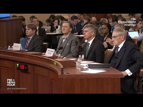 PBS NewsHour: WATCH: Rep. Peter Welch's full questioning of George Kent and Bill Taylor