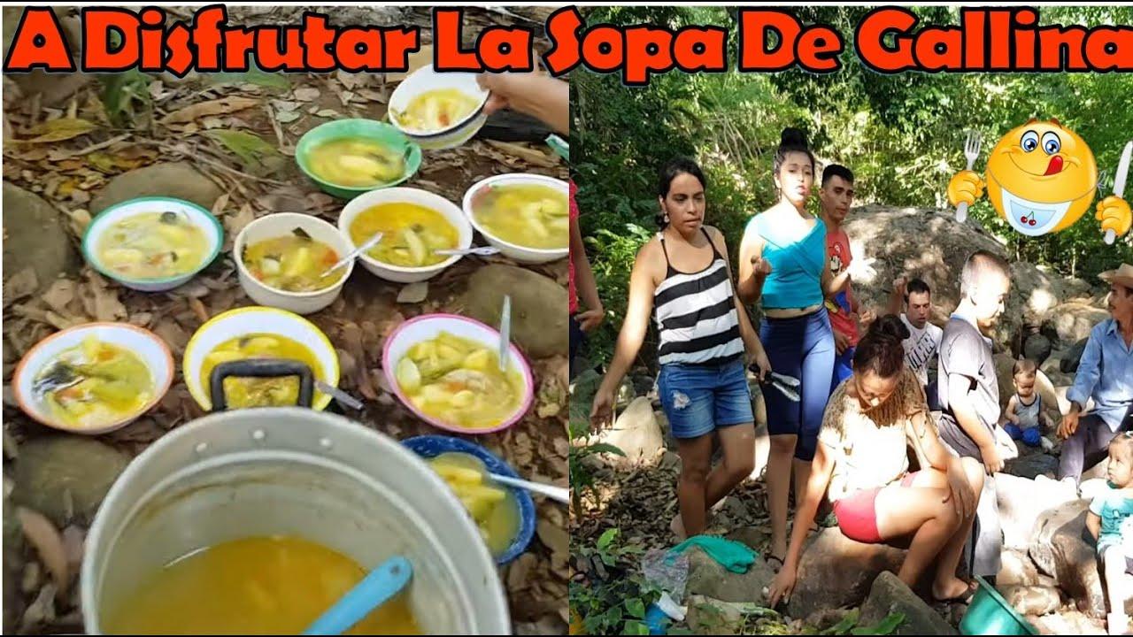 -A Disfrutar La Sopa De Gallina En Familia A La Orilla Del Rio 😋 -P6/6