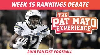 2018 Fantasy Football — Week 15 Rankings, Starts, Sits and Sleepers
