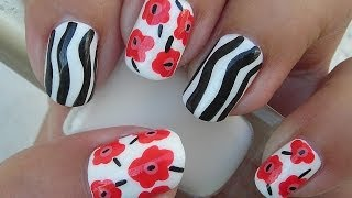 Nail Art - Marimekko Inspired Cake - Facebook Challenge Second Winner - Decoracion de Uñas