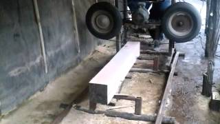 Самодельная ленточная пилорама на автоколесах(Пилорама., 2015-01-18T17:47:11.000Z)
