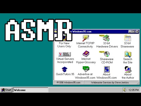[ASMR] Relaxing Internet History - Browsing The Web Of The 90's