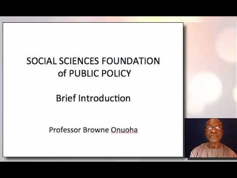 Social sciences foundation of public policy a brief introduction