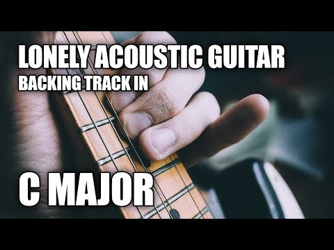 Lonely Acoustic Guitar Backing Track In C Major