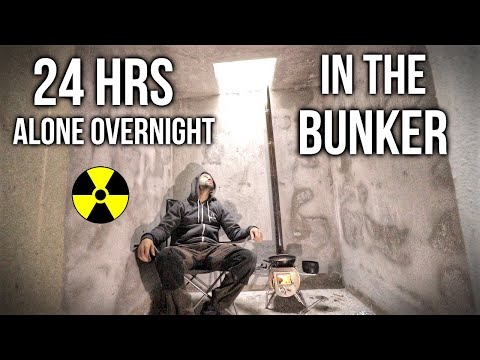 24 HOURS Overnight in my Bunker: Woodstove, Axe Sharpening