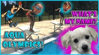 AQUA OLYMPICS CHALLENGE | HELP NAME OUR PUPPY | We Are The Davises