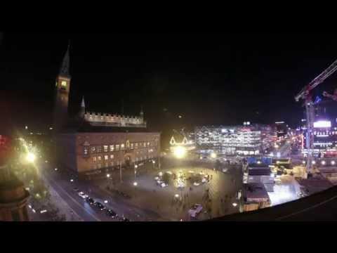 City Hall Square, Copenhagen, Denmark, time-lapse 20141127