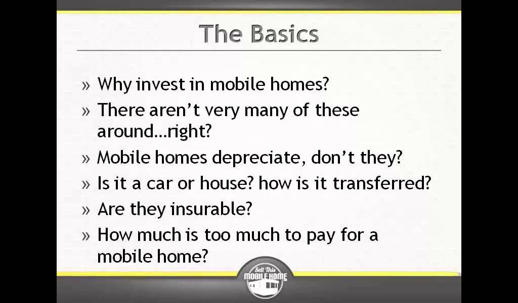 Do mobile homes depreciate youtube - Do modular homes depreciate in value ...