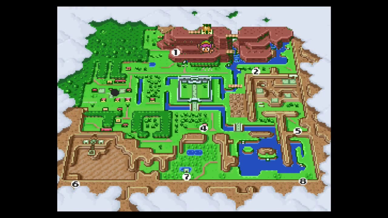 Link To The Past Light World Map.The Legend Of Zelda A Link To The Past 100 Walkthrough Part 9