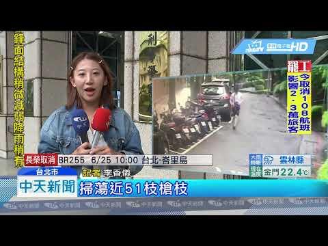 20190624中天新聞 全台掃51槍! 槍擊案多 警追「幕後兵工廠」