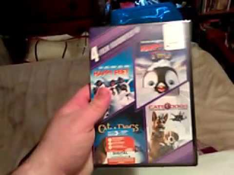 Happy Feet/Happy Feet 2/Cats & Dogs/Cats & Dogs:The Revenge Of Kitty Galore DVD Unboxing