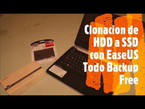 Clonacion de HDD a SSD con EaseUS Todo Backup Free