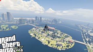 GTA 5 PC - VICE CITY MOD! (Full Map MOD) Exploring GTA 5 Vice City Map!!