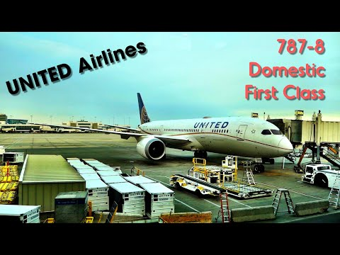 UNITED AIRLINES - flying domestic first class on the Dreamliner!