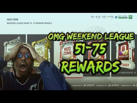 MADDEN 19 - TOP 75 WEEKEND LEAGUE REWARDS + ANOTHER SERIES 4 MUT MASTER JUSTIN HOUSTON COMPLETE