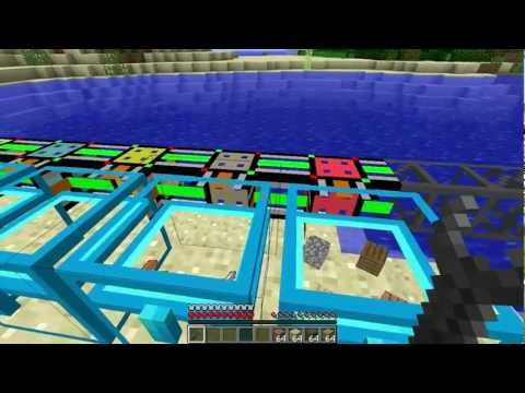 Minecraft - BuildCraft Logistics Pipe Sorting/Crafting System Tutorial/Build