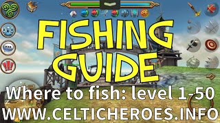 Where to fish lvl 1-50 Fishing guide! (Celtic Heroes)