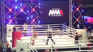 f61,2 kg: Maria Agapova (Kazakhstan) vs. Tatiana Chulkina (Russia). 2017 World MMA Championships