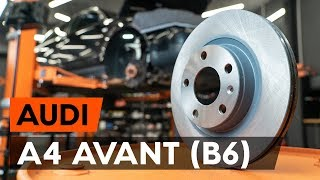 rear and front Brake Discs fitting AUDI A4 Avant (8E5, B6): free video